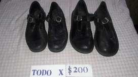 Lote de Zapatos Escolares 35 Y 38