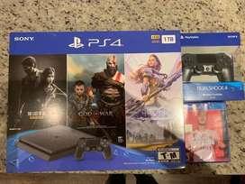 Nuevo Play station 4 2 controles 4 juegos PS4 PlayStation 4