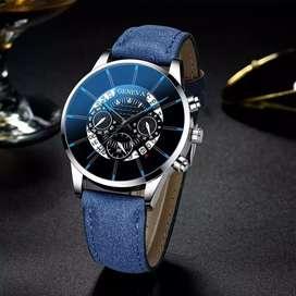 Reloj Geneva Ilusion Of Time Cuero Hombre