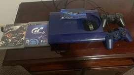 Play station PS3 linea especial color azul