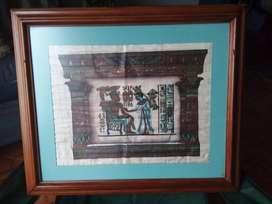 REMATE CUADRO PAPIRO ORIGINAL EGIPCIO