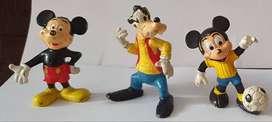 Muñecos Plástico Juguete Coleccion Infantil Mickey Minnie Goofy Pato Donald Retro Vintage ASP