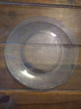 Set x 12 platos de vidrio