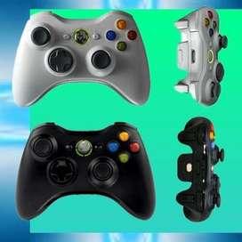 Control Xbox 360 Inalambrico Negro Blanco