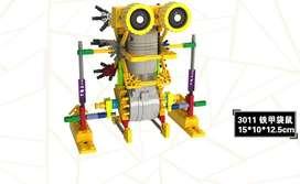 Armatodo de 123 piezas con motor Scooter A0011 similar al LEGO (AMARILLO)