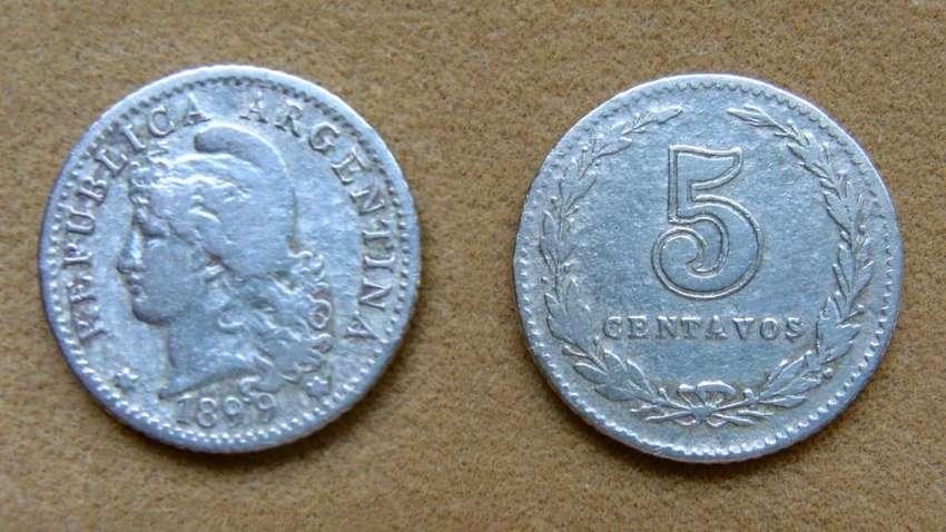 Moneda de 5 centavos Argentina 1899 0