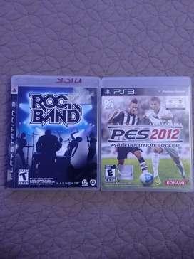 Vendo dos juegos de Playstation 3 ROCK BAND y PES2012 SOCCER