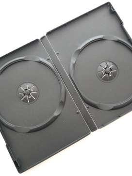 Caja para DVD y CD negra x 5 unidades