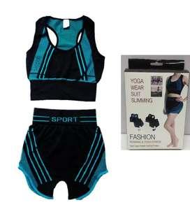 Conjunto deportivo TOP Y SHORT Gym