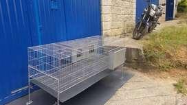 Comederos y jaulas para gallinas