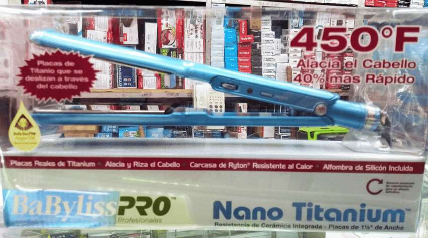 Plancha Para Cabello Babyliss Ancha Original Pro Nano titanium 450 0