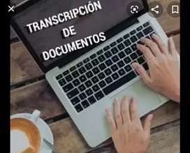 Transcripción de textos, audios y videos