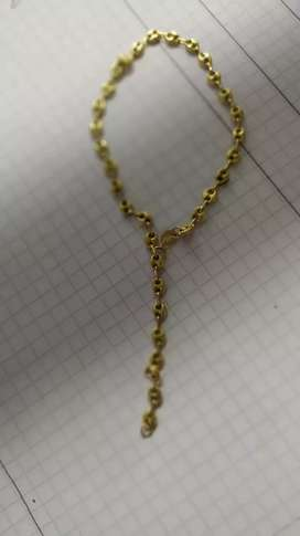 Hoy en venta tobillera de oro 18k garantizado ...