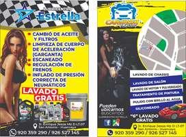 Busco técnico Lubricentro y Car wash
