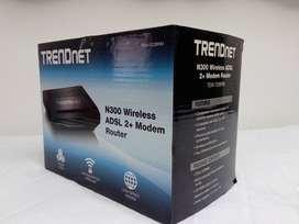 Modem ADSL 2+ Router + WiFi Trendnet N300 TEW-722BRM