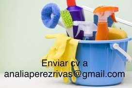 Personal para tareas de limpieza