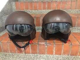 Exclusivos cascos tipo piloto de helicoptero