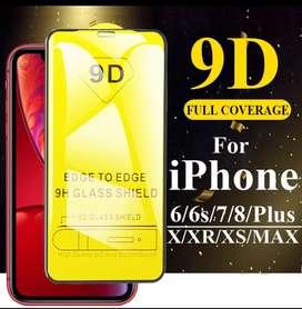 Vidrio Templado 9D iPhone