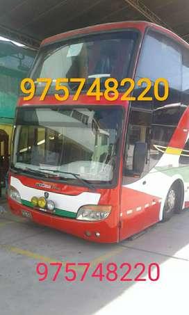 Vendo dos buses Scania k380 6x2 de dos pisos cuenta con 69 asientos bus en perfectas condiciones$61.000negociable