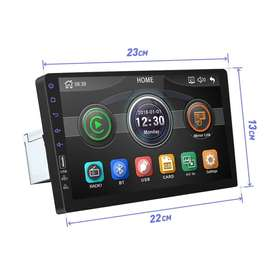 Auto Radio 9 pulgadas 1Din Bluetooth USB MIRRORLINK CAMARA RETRO