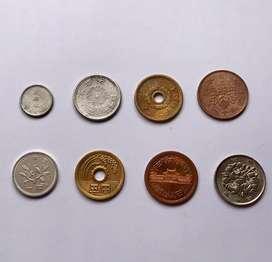 Japon lote de monedas