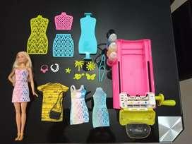Barbie Set Magic Color Station Moda