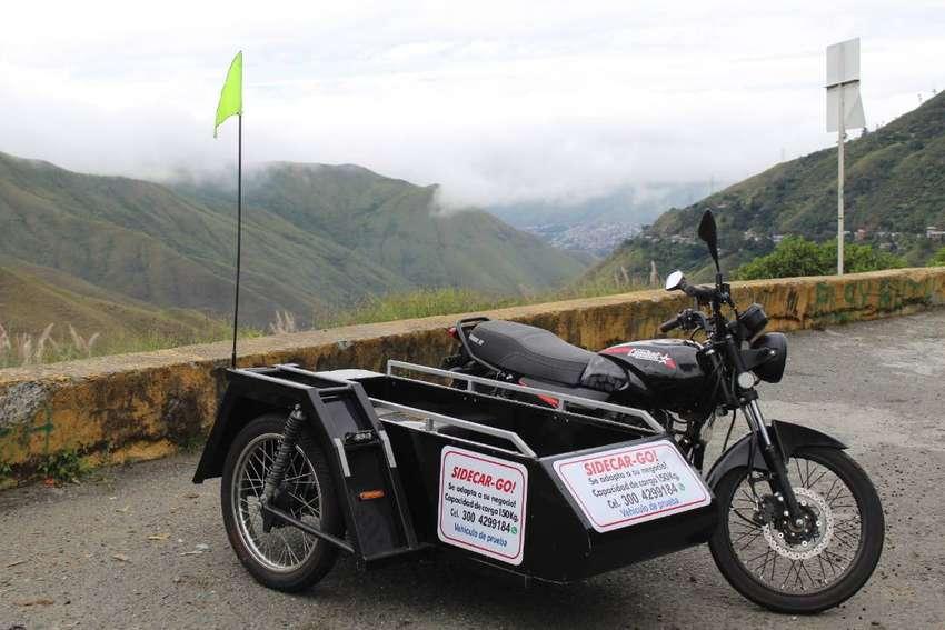 Remolque trailer Sidecar Go! de carga para moto