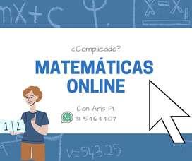 CLASES DE MATEMÁTICAS ONLINE