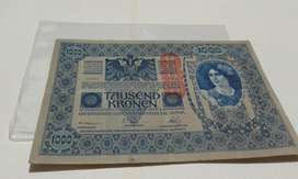 Austria Mil Kronen Año 1902 Antiguo Gran