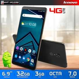 "TABLET Telefono LENOVO V7 Chip 4G LTE 6.9"" 3GB 32GB Android"