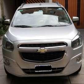 Vendo Chevrolet Spin LTZ 7 asientos, 1.8 cc, caja manual. 105170 Kms.