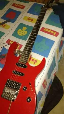 Guitarra superstrato FoydRose con Marshall ok