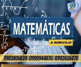 Clases de matematicas. Clases de fisica. Clases particulares a domicilio
