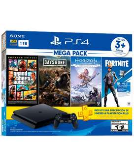 Consola Ps4 Mega pack 6