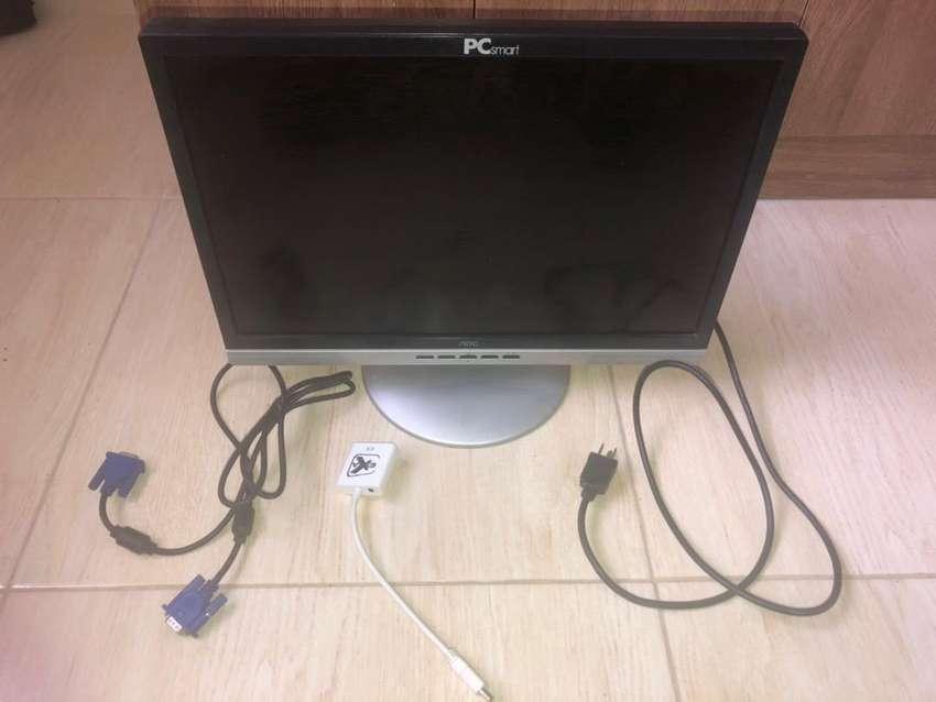 monitor Nov pc smart +cable RGA + converidor RGA a HDMI 0