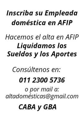Inscripción empleadas domésticas AFIP