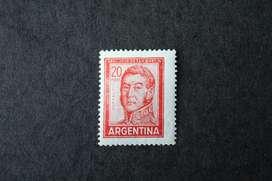 ESTAMPILLA ARGENTINA, 1967, GRAL. SAN MARTÍN,  20, MINT