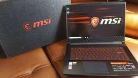 Portatil Gamer MSI core I7 9750H 8GB ram DDR4, Nvidia GTX 1650, 512GB Disco Solido M.2, FullHD