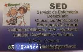 Servico de enfermeria en clinicas y domicilios