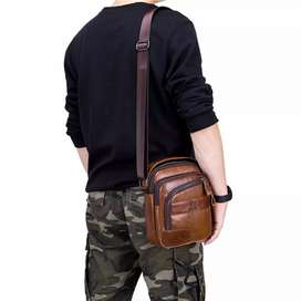 Hermoso bolso de cuero genuino tipo carriel