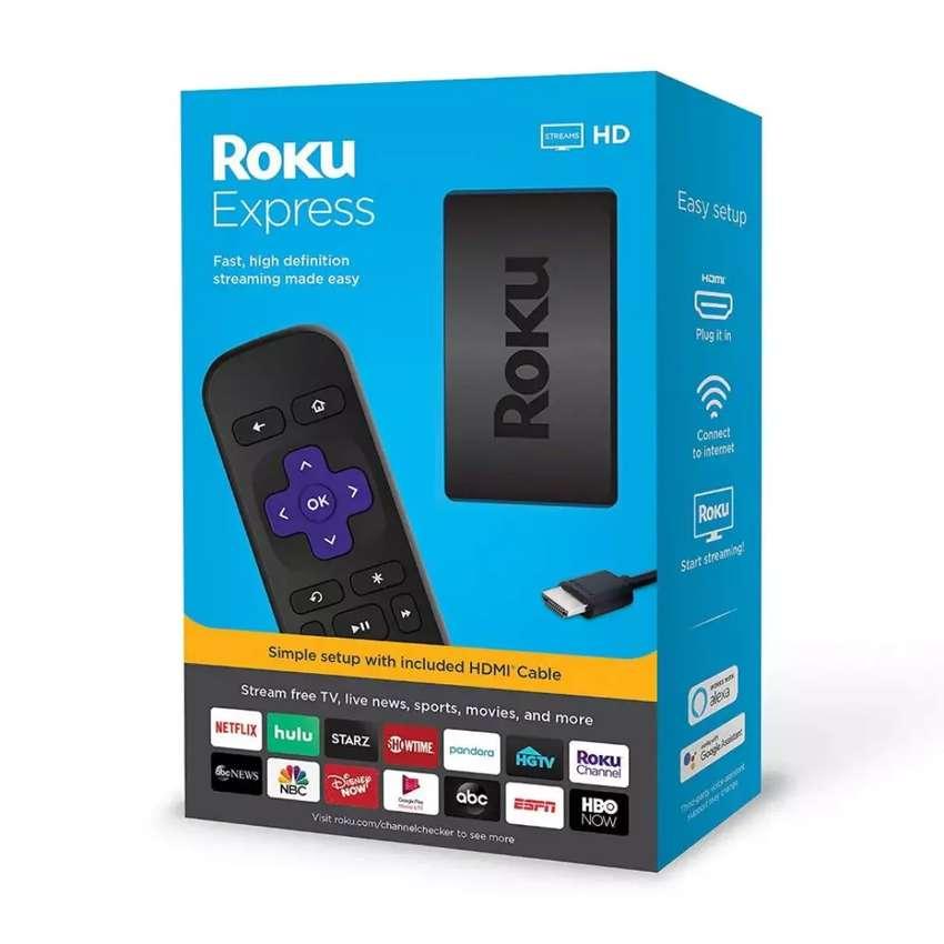 Roku express 2019 dispositivo de streaming vuelve su TV viejo en un smart 0