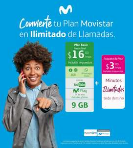 Activación de servicios de planes y venta de teléfonos celulares