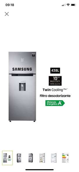 Se vende Refrigeradora Samsung 453Ltrs color plata