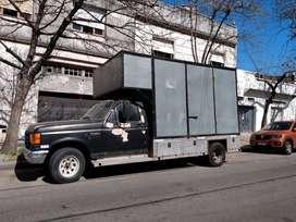 Vendo camión f-350 con caja tipo mudancera