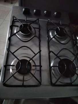 Vendo estufa empotrar inox marca haceb gas natural