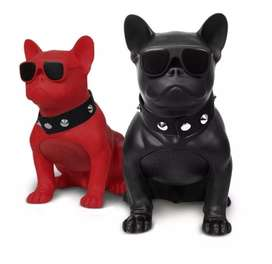 Parlante Bluetooth Perro Bulldog Portátil Usb Sd Radio Fm