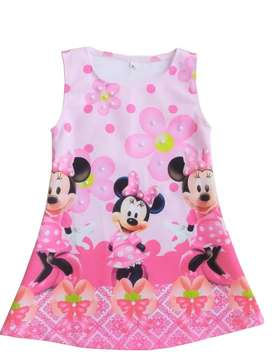 Vestido Minnie Rosado