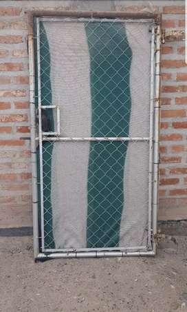 puerta tejido