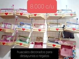 huacales decorados para DESAYUNOS o DETALLES