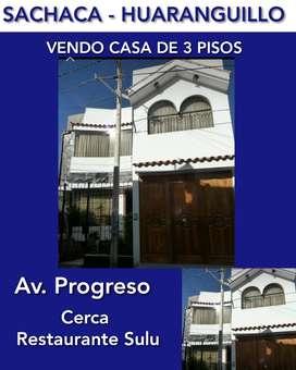 Sachaca Huaranguillo Vendo Casa 3 Pisos